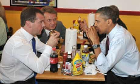 US President Barack Obama and Russian President Medvedev