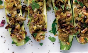 Courgettes with orange and pine nuts