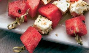 Watermelon feta skewer