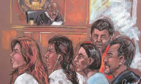 Five of the alleged Russian spies in a New York courtroom