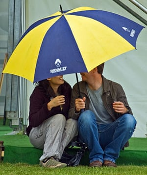 Hay festival: Hay (sic) we don't mind the rain
