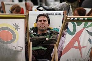 Hay festival: sleep
