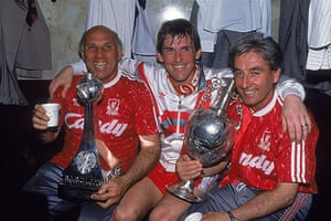 Rafa's Replacements: Liverpool Manager Kenny Dalglish with assistants Ronnie Moran & Roy Evans