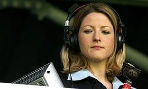 BBC sports commentator Jacqui Oatley