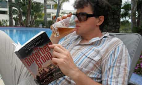 Charlie Skelton at the Hotel Dolce Sitges, before the Bilderberg conference began
