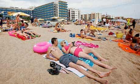British holidaymakers in Santa Susanna, Spain