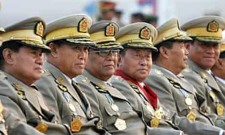 Members of Burma's military junta