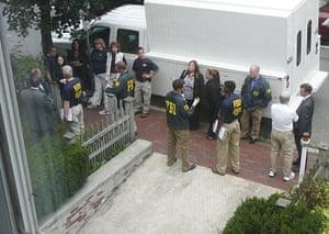 Russian secret agents: FBI agents outside 35B Trowbridge Road in Cambridge, Massachusetts