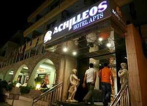 Russian secret agents: The Achilleos Hotel Apartments in Larnaca, Cyprus where Metsos was staying