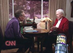 Larry King retires: 2006: Larry King interviewing W. Mark Felt 'Deep Throat'