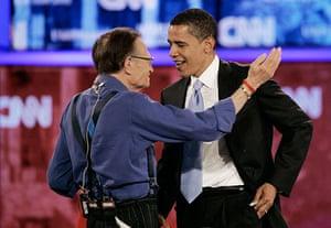 Larry King retires: 2007: Barack Obama, Larry King