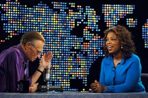 Larry King retires: 2007: Oprah Winfrey joins Larry King for his 50th anniversary