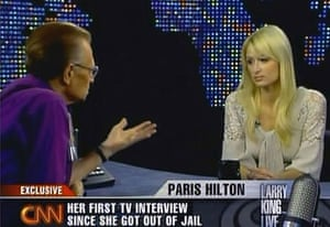 Larry King retires: 2007: Paris Hilton first TV interview since release from jail on Larry King