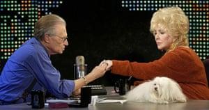 Larry King retires: 2003: Elizabeth Taylor shows Larry King a diamond ring