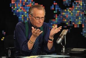 Larry King retires 2: Larry King speaks during Larry King Live: Disaster in the Gulf Telethon