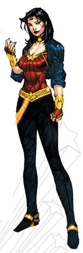 Wonder Woman: The new Wonder Woman costume designed by Jim Lee