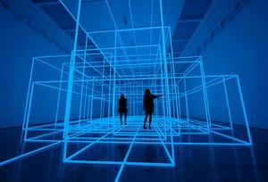 Antony Gormley Test Sites: Installation by artist Antony Gormley entitled Breathing Room III