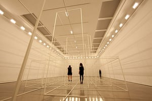 Antony Gormley Test Sites: This picture was taken while the lights were on for 22 seconds