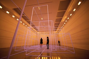 Antony Gormley Test Sites: This picture was taken just as the lights were switched off
