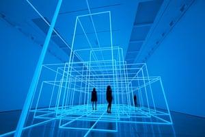 Antony Gormley Test Sites: People experience an installation by artist Antony Gormley