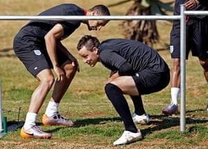 England training: John Terry