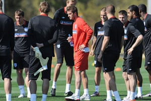 England training: Soccer - England's First Training Session
