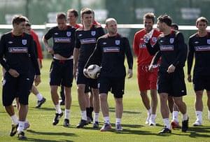 England training: Beckham