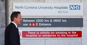Cumbria Shootings: Britain's Prime Minister David Cameron leaves the West Cumberland Hospital