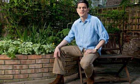 David Miliband photographed in his garden in Primrose Hill, London