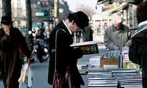 Booksellers in Paris's Latin Quarter