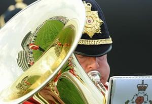 Epsom Derby 2010: Tuba player