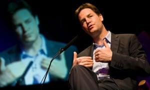 Nick Clegg speaks at The Hay Festival
