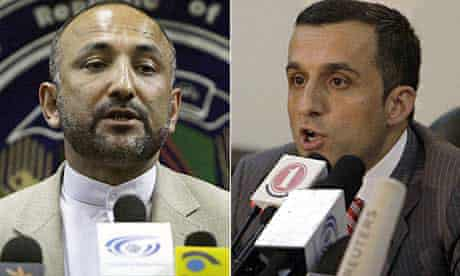 Hanif Atmar and Amrullah Saleh, who have resigned from the Afghan government
