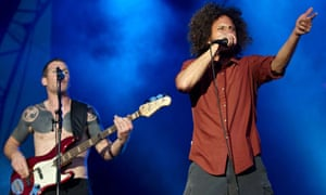 Rage Against the Machine performing at Finsbury Park, London