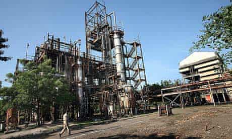 The Union Carbide plant in Bhopal