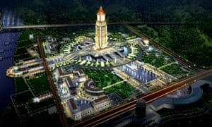Artist's impression of Ganzhou's Harmony park which will feature the clock built by Smith of Derby