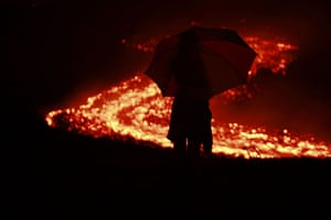 Guatemala volcano: Pacaya volcano in Villa Canales, Guatemala