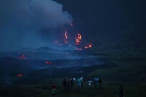 Guatemala volcano:  Pacaya volcano in  Guatemala