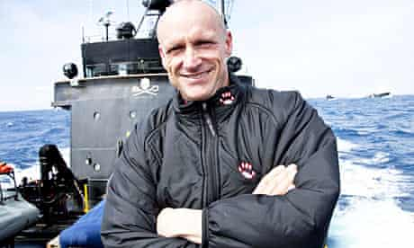 Peter Bethune, who has been expelled from the Sea Shepherd anti-whaling group