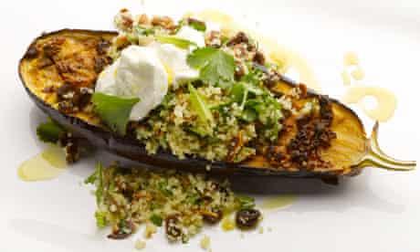 Chermoula baked aubergine