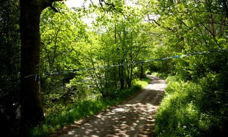 The lane near Boot where Derrick Bird's body was found after he shot dead 12 people in Cumbria