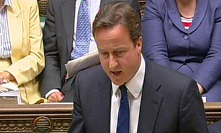 David Cameron at prime minister's question time on 9 June 2010.