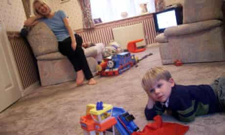 Fiona Farrell and her son Brett who is autistic