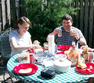 Russian spies: Richard Murphy and Cynthia Murphy eat food at a picnic