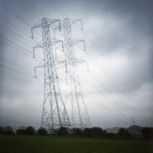 Pylon Poems: I Spy Pinhole Eye 'Pylon in the mist' poem by Phillip Gross