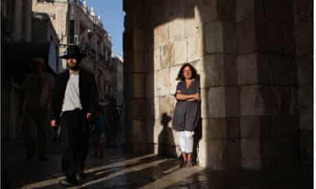 The Guardian's new Jerusalem correspondent Harriet Sherwood at the Jaffa Gate in the Old City.
