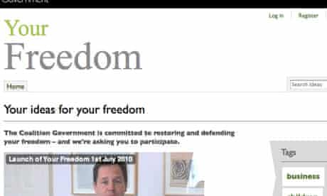 Value Your Freedom website