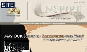 A screenshot of the al-Qaida website