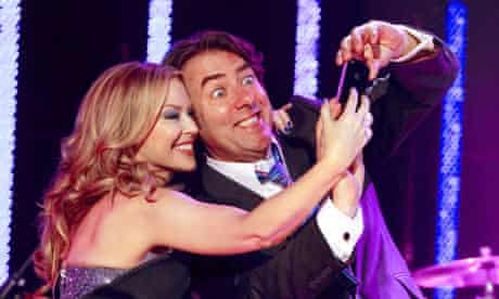 Jonathan Ross and Kylie Minogue