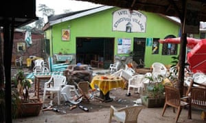 The Ethiopian Village restaurant in Kampala, Uganda, site of one of the co-ordinated bomb blasts